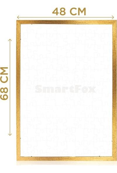 Smartfox Puzzle ve Yapboz Çerçevesi 1000 Parça Için 68CMX48CM Ebatında Altın Sarısı (Gold)