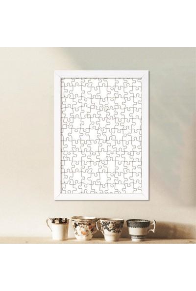 Smartfox Puzzle ve Yapboz Çerçevesi 1000 Parça Için 68CMX48CM Ebatında Beyaz