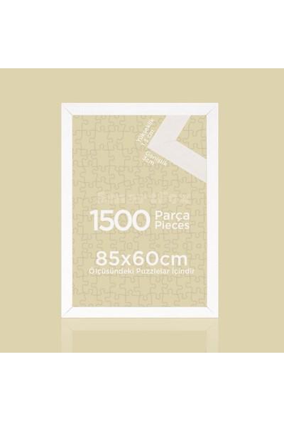 Smartfox Puzzle ve Yapboz Çerçevesi 1500 Parça Için 85CMX60CM Ebatında Beyaz