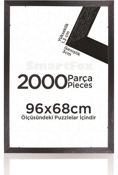 Smartfox Puzzle ve Yapboz Çerçevesi 2000 Parça Için 96CMX68CM Ebatında Siyah