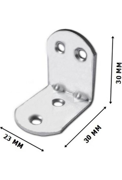 Smod Mobilya Dolap Köşe Bağlantısı L Demir 30X30X23 mm (10 Adet)
