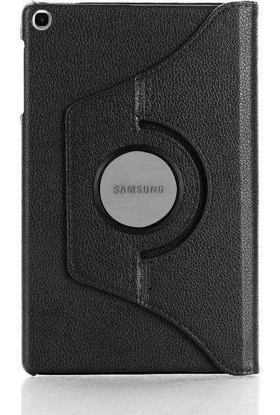Redpoloshop Samsung Galaxy Tab A7 10.4 Inch T500 T505 Kılıf 360 Dönerli Kapaklı Siyah
