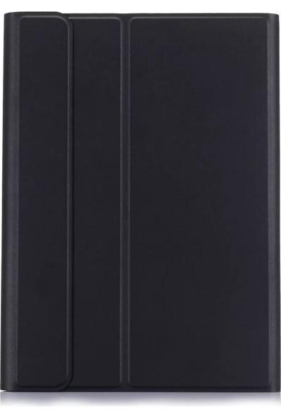 Redpoloshop Samsung Galaxy Tab A7 10.4 T500 T505 Kılıf Bluetooth Standlı Klavyeli Smart Kılıf Siyah