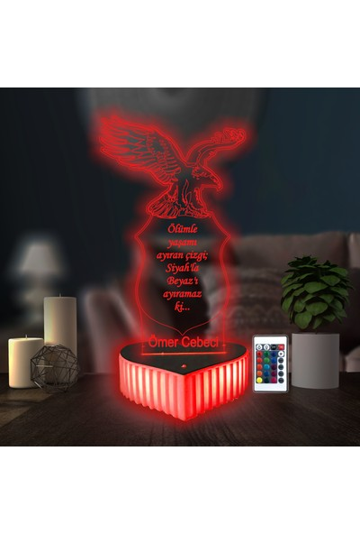 3D Hediye Dünyası Beşiktaş Hediyesi Bjk Kartal Sevgilime Hediye Doğum Günü Hediyesi 16 Renkli Kumandalı