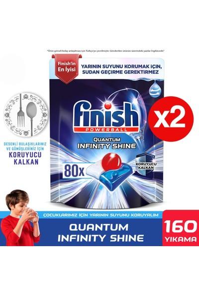 Finish Quantum Infinity Shine 160 Kapsül Bulaşık Makinesi Deterjanı Tableti (80 x 2)