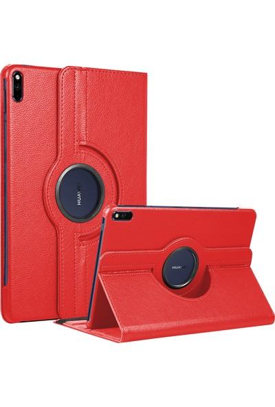 BizimGross Huawei Matepad 10.4 Inç Kılıf 360 Derece Dönebilen Standlı Tablet Kılıfı Kırmızı