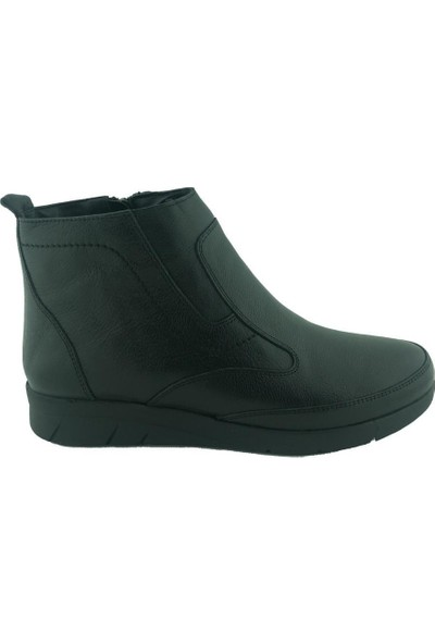 Marine Shoes 20K-050-P06 Deri Kadın Bot Siyah