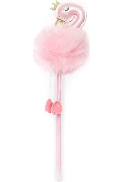 Vuki Ponponlu Flamingo Tükenmez Kalem Pembe