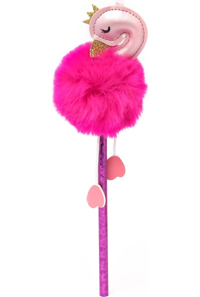 Vuki Ponponlu Flamingo Kurşun Kalem Pembe