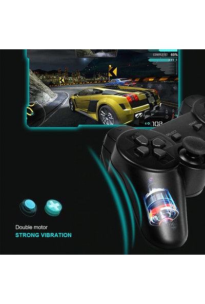 Zabata Sony Playstation Pc Ps1 Ps2 Ps3 Bilgisayar Oyun Kolu Wireless Kablosuz Bluetooth Joystick Gamepad