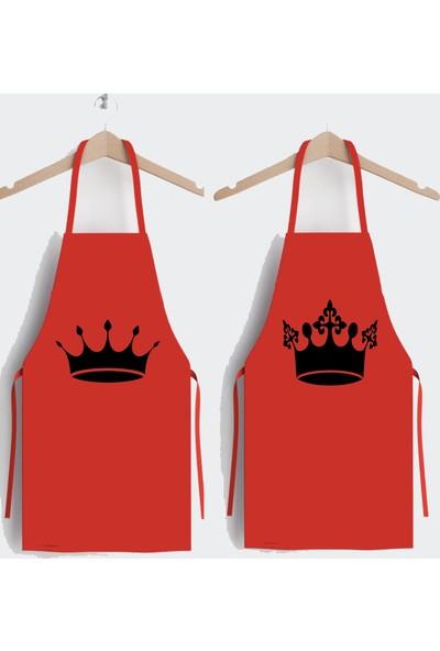 Ays Home Kral Kraliçe Tasarım 2'li Mutfak Önlüğü