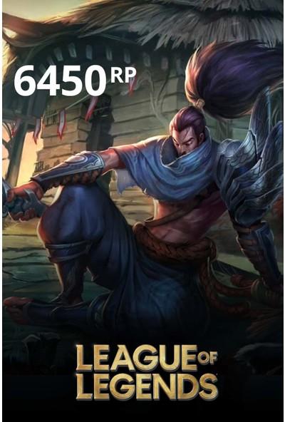 League Of Legends 6450 Riot Points - 6450 Rp