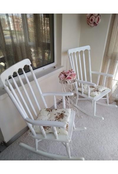 Zerka Rengin Lake Beyaz Sallanan Sandalye & Tv Koltuğu