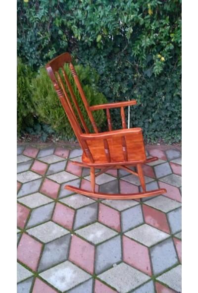 Zerka Rengin Koyu Meşe Sallanan Sandalye & Tv Koltuğu