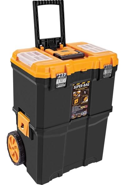 Super Bag Çift Katlı Tekerlekli Takım Çantası ASR-5039