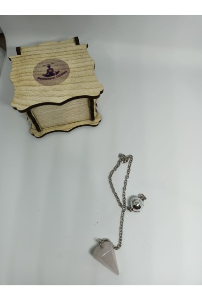 Meditasyon Dükkanı Pembe Kuvars Pandül/sarkaç