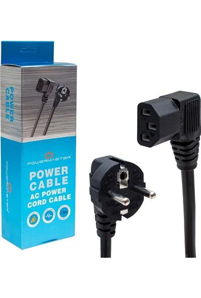 Powermaster 90 Derece L Tip Power Kablo Kutulu 3x1 mm - 1.8m