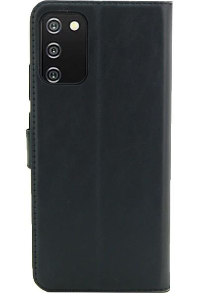 Coverzone Reeder P13 Max Blue Standlı Para Gözlü Kapaklı Trendx Cüzdan Siyah