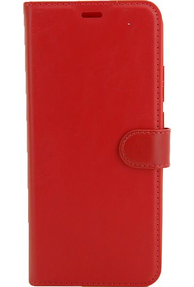 Coverzone Reeder P13 Max Blue Standlı Para Gözlü Kapaklı Trendx Cüzdan Kırmızı