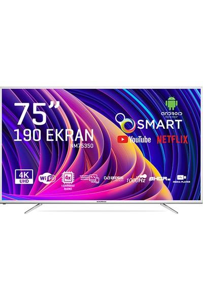 "Nordmende NM75350 75"" 190 Ekran Uydu Alıcılı 4K Android Smart LED Tv"
