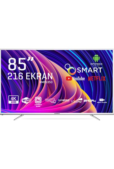 "Nordmende NM85350 85"" 214 Ekran Uydu Alıcılı 4K Android Smart LED Tv"
