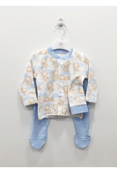 BebeMekan Ördek Baskılı Şapkalı Pijama Takım