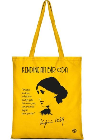 Sia Kitap Virginia Woolf Sarı Bez Çanta