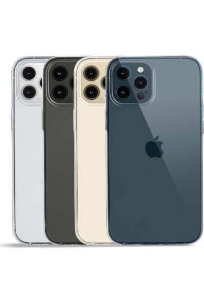 Vinn Mood Apple iPhone 12 Pro Kılıf Antishock Silikon Köşeli Şeffaf Airbag Arka Kapak