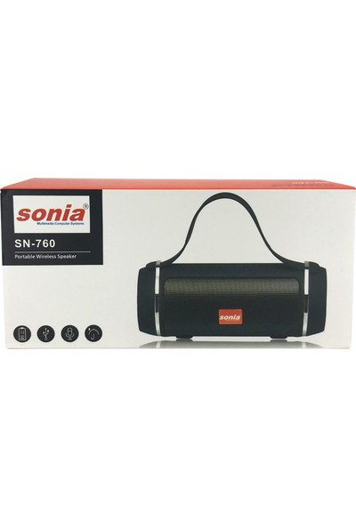 Sonia SN-760 Yatay Kablosuz Mono Hoparlör - Speaker