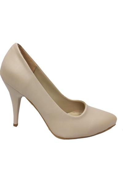 Önder 217201 -10CM Deri Ince Topuk Stiletto Kadın Ayakkabı