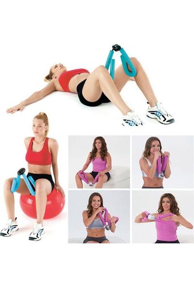 Spor Byfit Kol, Bacak ve Basen Sıkılaştırıcı Kelebek Egzersiz Aleti - Pembe