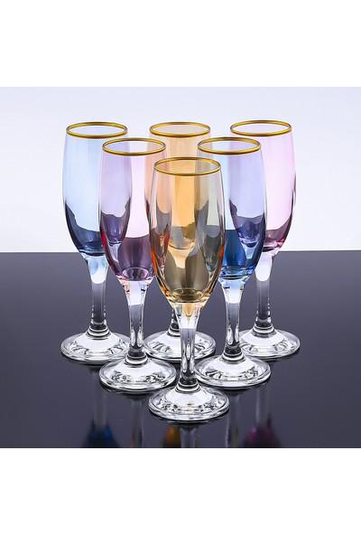 Sanat Kahve Yanı Su Bardağı 3 Renk 6 Kişilik