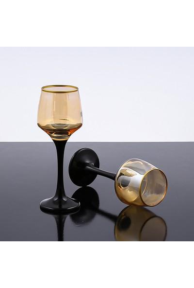 Sanat Kahve Yanı Su Bardağı Bal Rengi 6 Kişilik