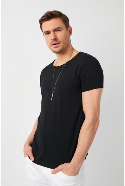 Buratti % 100 Pamuklu Bisiklet Yaka Basic T Shirt Erkek T Shirt 5412056