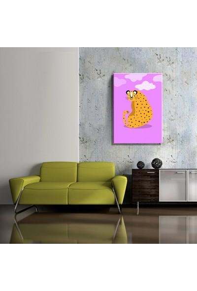 Mağazacım Çocuk Odası Sevimli Jaguar Temalı (35X50CM) Kanvas Tablo TBL1475
