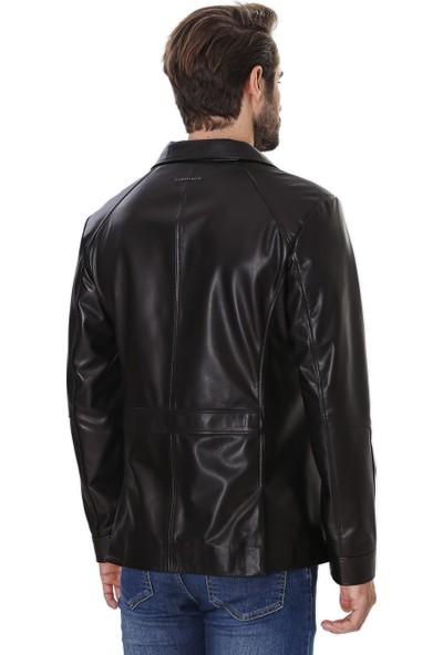 Franko Armondi Erkek Gerçek Deri Klasik Ceket Siyah K-757 Ssn - 19963 Fa4
