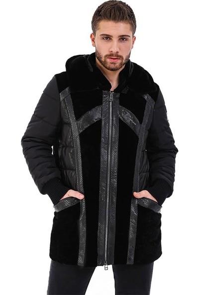 Franko Armondi Erkek Gerçek Deri Spor Luxury Kaban Siyah K-1536-20049 Fa5