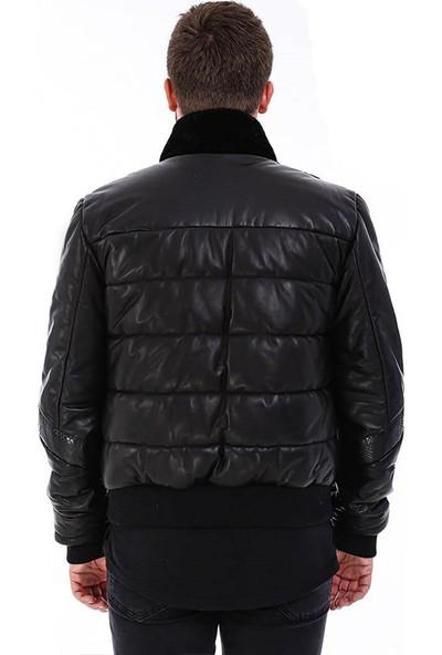 Franko Armondi Erkek Gerçek Deri Spor Luxury Mont Siyah K-1538-20088 Fa5