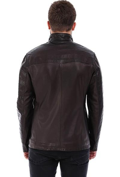Franko Armondi Erkek Gerçek Deri Klasik Ceket Siyah K-697-18523 Fa5