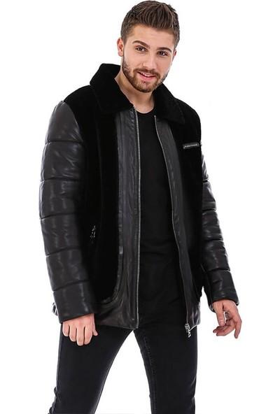 Franko Armondi Erkek Gerçek Deri Spor Luxury Mont Siyah K-1590-20083 Fa5