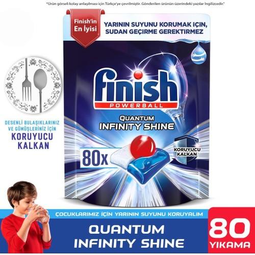 Finish Quantum Infinity Shine 80 Kapsül Bulaşık Makinesi Deterjanı Tableti