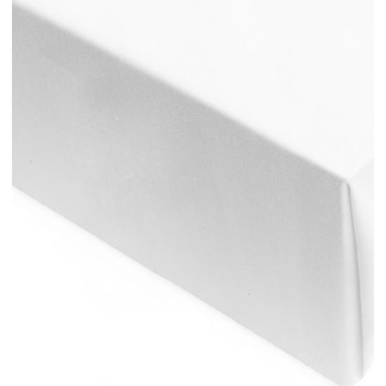 Tam İstediğim Şey Nevresimlerime Uygun Çarşaf-140 tel Saten(350TC) 260x280 Çift Kişilik Beyaz