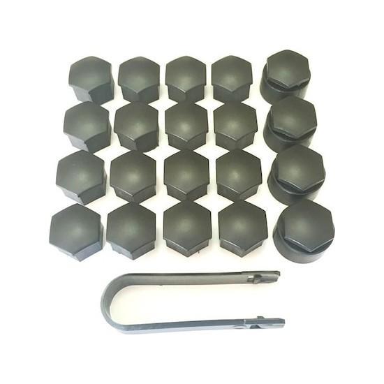 Plastech Vw Audi Seat Skoda Bijon Kapağı Takımı 20 Adet Siyah