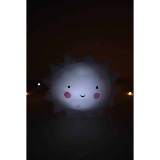 Bbc LED Işikli Güneş Silikon Gece Lambası-Dekoratif Aydınlatma-Beyaz Renk