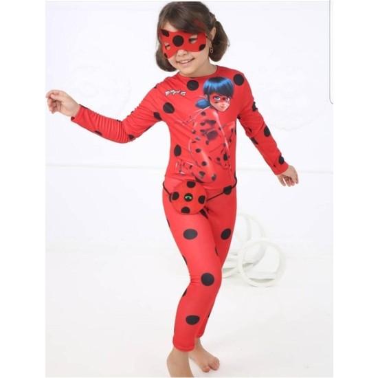Buda Bizde Benekli Uğur Böceği Kostum Lady Bug Baskılı Yeni Model