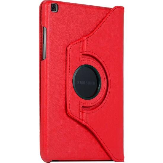 BizimGross Samsung Galaxy Tab A Uyumlu 8.0 Inç (SM-T290-T295-T297) 360 Derece Dönebilen Tablet Kılıfı Kırmızı