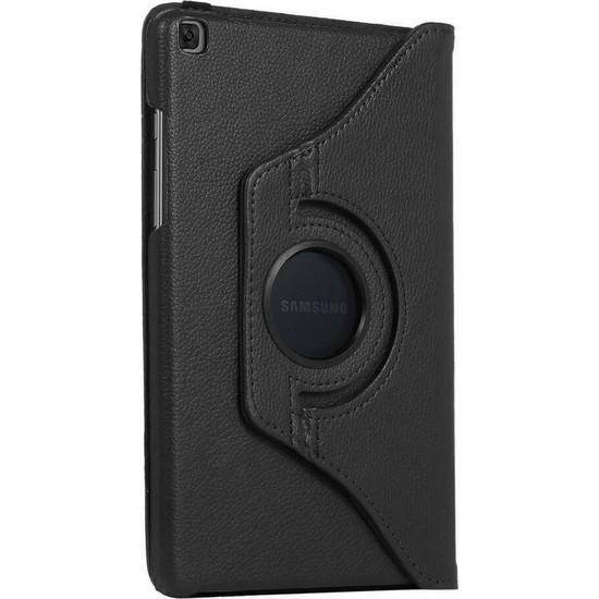 BizimGross Samsung Galaxy Tab A Uyumlu 8.0 Inç (SM-T290-T295-T297) 360 Derece Dönebilen Tablet Kılıfı Siyah