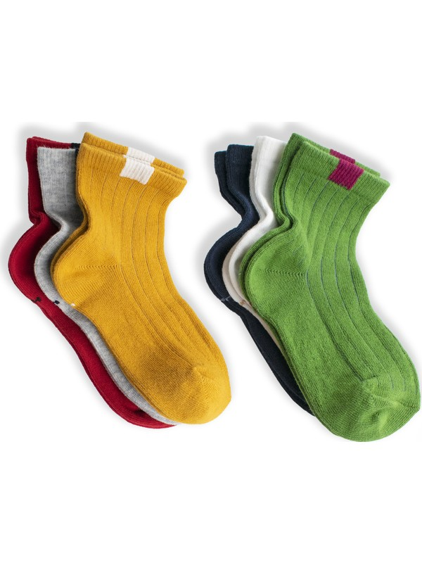 Belyy Socks Çocuk Renkli 6'lı Çorap