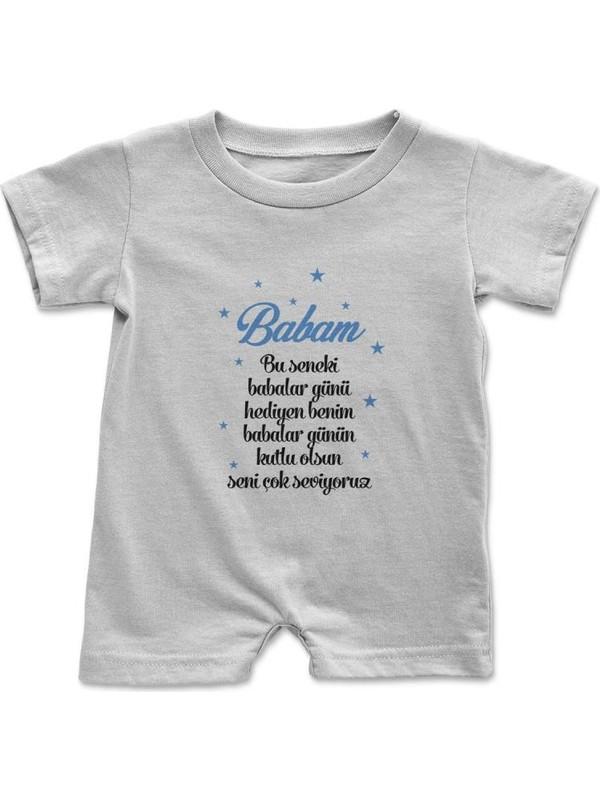 Angemiel Baby Baba Doğum Günü Hediyesi Erkek Bebek Çıtçıtlı Zıbın Tulum Beyaz