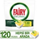 Fairy Hepsi Bir Arada 120 Yıkama Bulaşık Makinesi Deterjanı Kapsülü Limon Kokulu